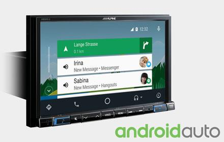 Alpine X802D-U fungerer med Android Auto