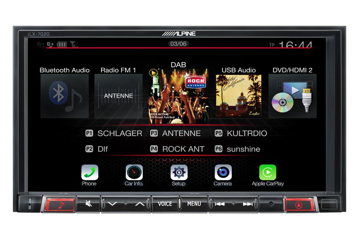 alpine ilx 702d multimediaenhet 4x50w 7 skjerm carplay android auto audiocom. Black Bedroom Furniture Sets. Home Design Ideas