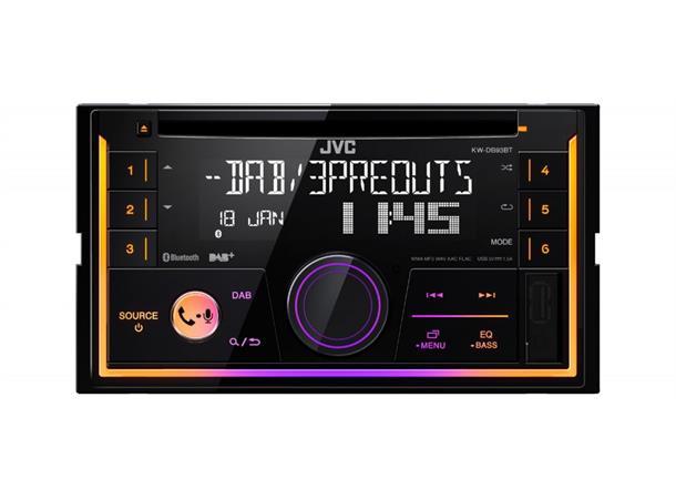 jvc kw db93bt bilradio m antenne dab bl tann cd usb. Black Bedroom Furniture Sets. Home Design Ideas