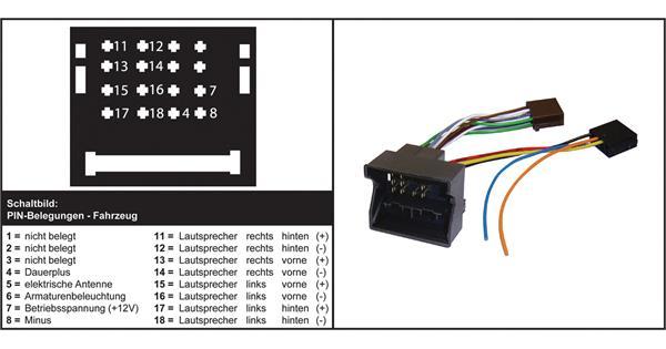 Iso Adapter Citroen Peugeot Quadlock Audiocom