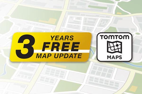 3 år med gratis kartoppdatering