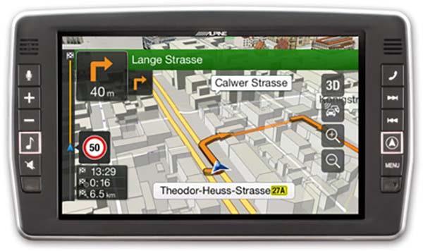 3D kart og farts informasjon