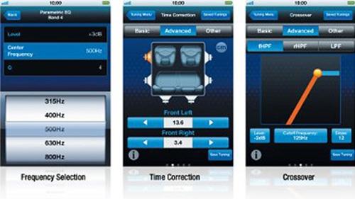 Alpine INE-W997E46 kan bruke Alpine TuneIt app