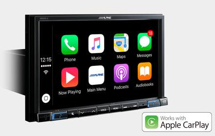 Alpine X802D-U fungerer med Apple CarPlay