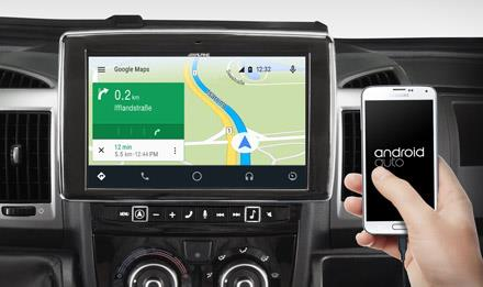 Online navigering med Android Auto