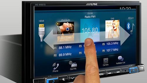 Alpine INE-W997D har fått et helt nytt brukergrensesnitt