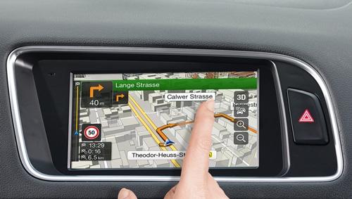 Alpine X701D-Q5 har en høyoppløselig berørings skjerm