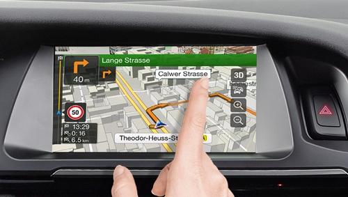 Alpine X701D har en høyoppløselig berørings skjerm
