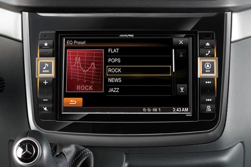 Alpine X800D-V gir deg High End lyd innstillinger
