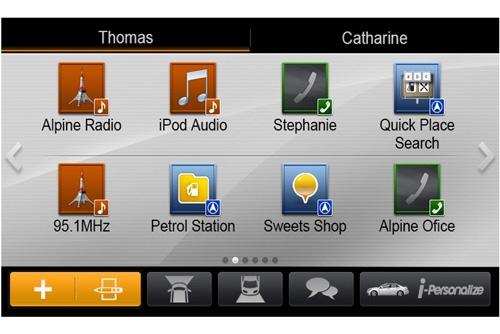Alpine_X800D-V tilpasset flere brukere