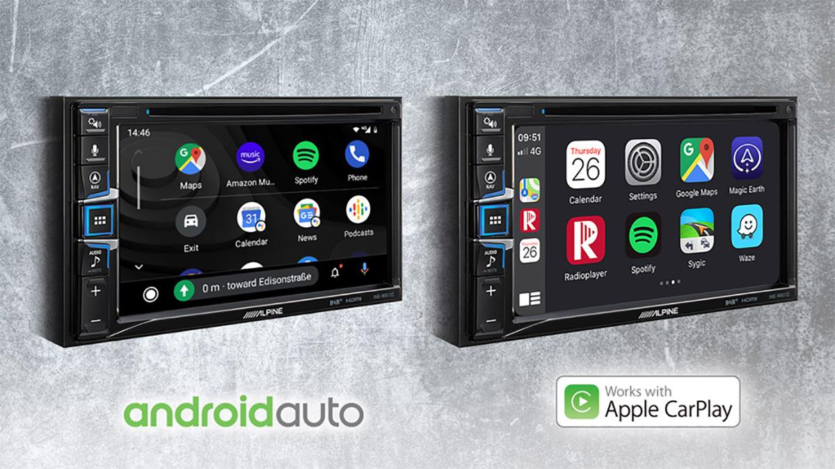 Apple CarPlay og Android Auto kompatibel INE-W611DC