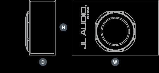 Dimensjoner CP112LG-TW1-2 basskasse
