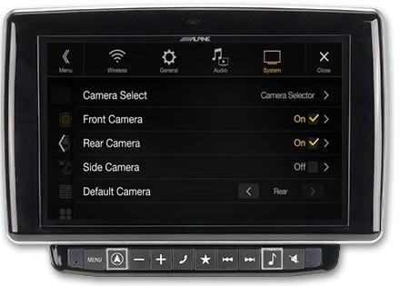 Mulighet for opp til 3 kamera med valgfri KCX-C250MC
