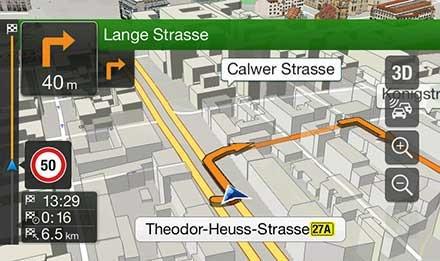 Navigiasjon med 3D kart - Skoda Octavia 3 - X901D-OC3
