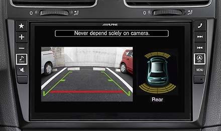Parkerings sensorer sammen med ryggekamera