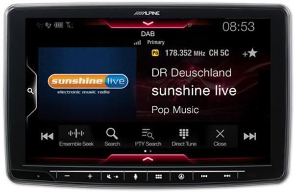 Innebygget DAB+ digital radio