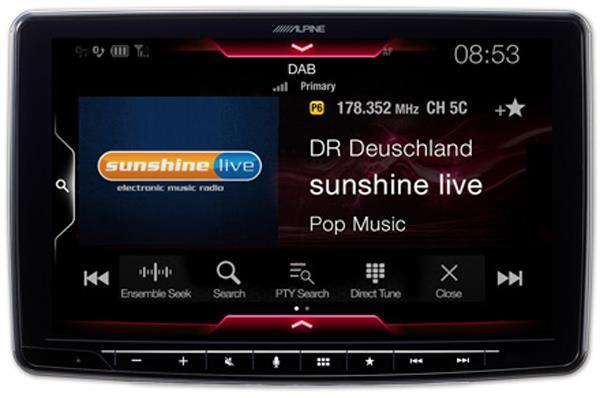 Innebygget DAB radio