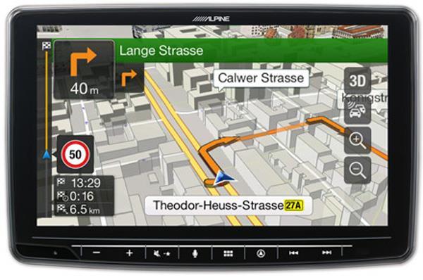 Innebygget navigasjon med kart fra TomTom