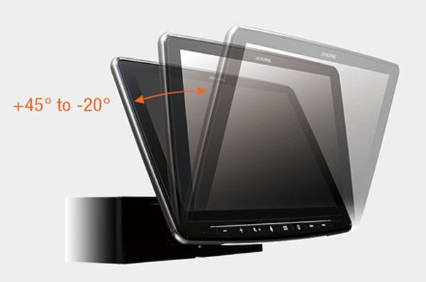Justerbar displayhøyde -og dybde INE-F904DC