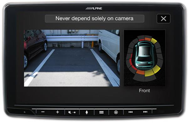 Kamera for kjøreassistanse og display for parkeringssensor