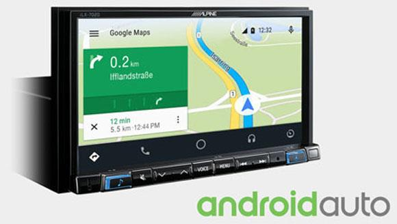 Online navigering med Android Auto iLX-702D