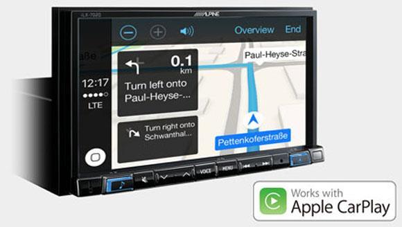 Online navigering med Apple CarPlay iLX-702D