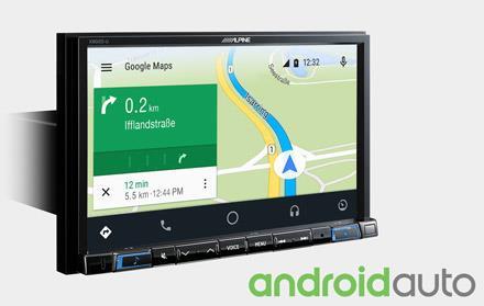 Online navigering med Android Auto X802D-U