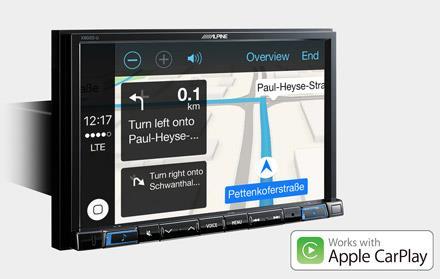 Online navigering med Apple CarPlay X802D-U