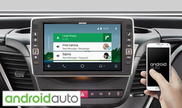 Online navigering med Android Auto X902D-ID