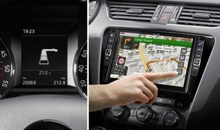 Visning av informasjon i bilens MFD display Skoda Octavia 3 - X901D-OC3