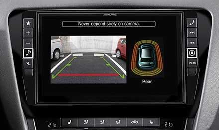Parkering sensor skjermbilde Skoda Octavia 3