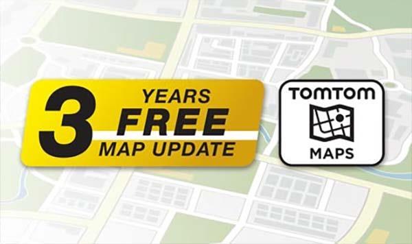 TomTom kart med 3år gratis oppdatering