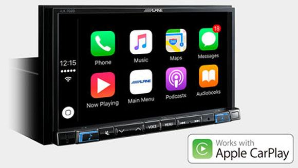 Alpine iLX-702D fungerer med Apple CarPlay
