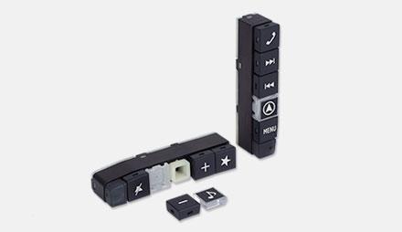 Flyttbare knappe deksler Freestyle Navigation-System-X701D-F