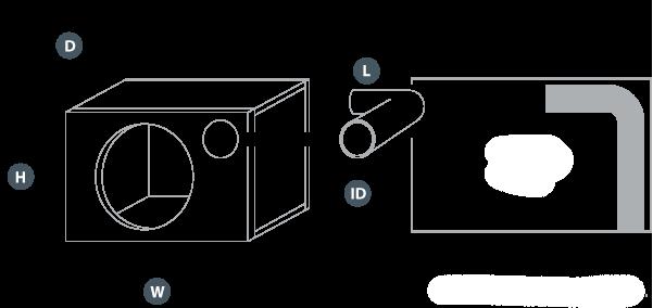 Kasse med port illustrasjon